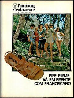 Anúncio sandalias Franciscano de 1977