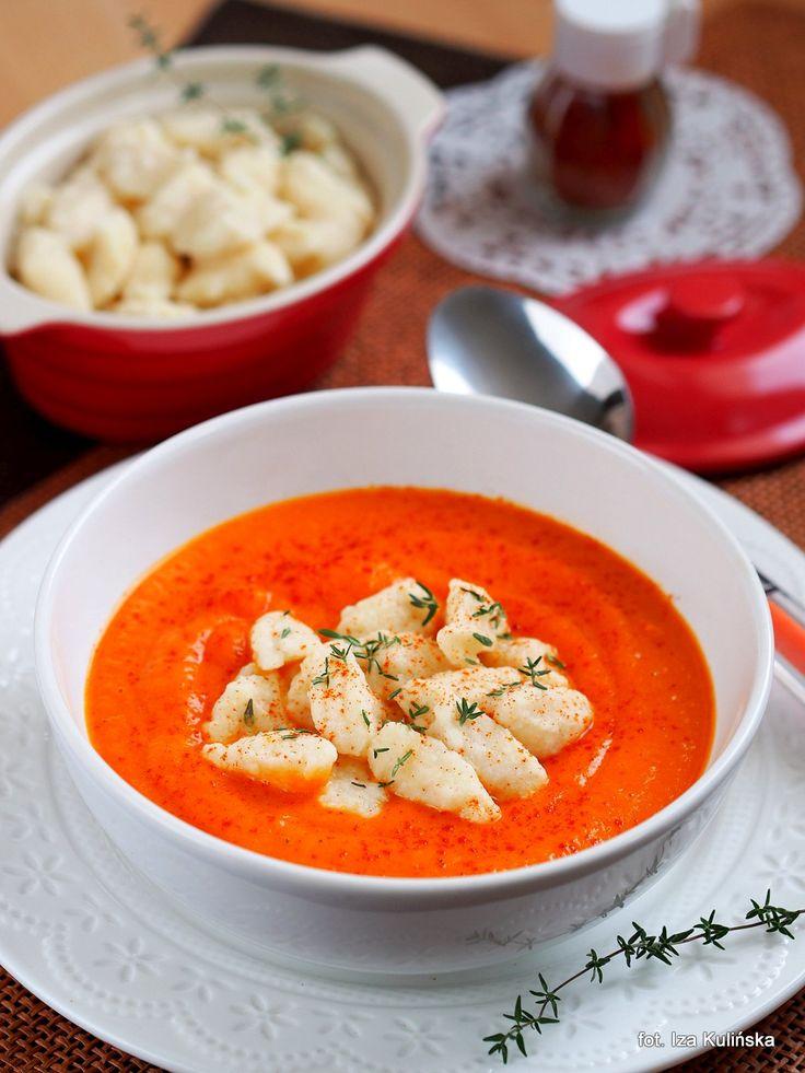 Smaczna Pyza: Warzywa. Kremowa zupa jesienna z kluseczkami