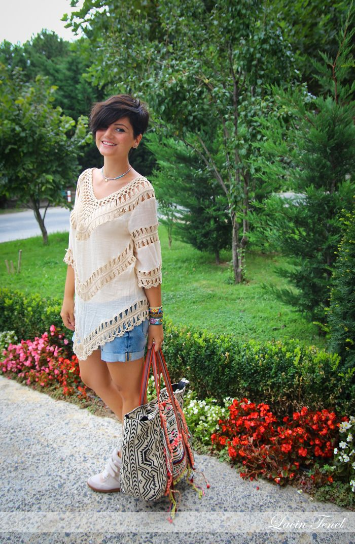 #sheinside crochet top