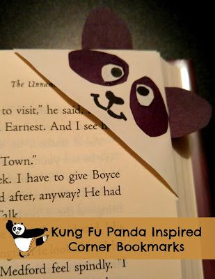 One Momma Saving Money: Kung Fu Panda Inspired Corner Bookmarks #KungFuPandaParty #PandaInsiders @FHEInsiders