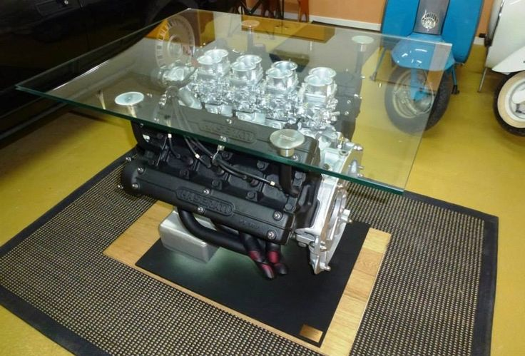 Maserati's 4.9-liter V8 engine coffee table is meant for gearheads - HomeCrux