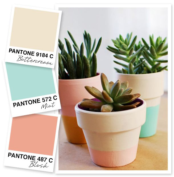 The soft pastels in this color palette would be lovely for a wedding or even a nursery.