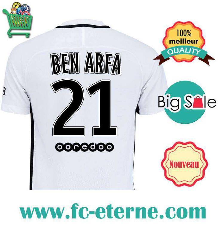 Site Maillot de Foot PSG (BEN ARFA 21) 2016-2017 Third |fc-eterne