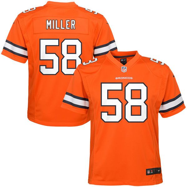 ronnie hillman elite white nfl jersey sale von miller denver broncos nike youth color rush game