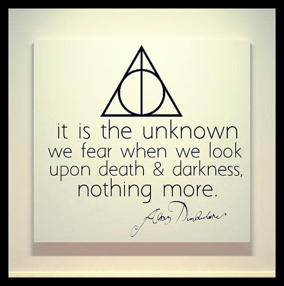 Harry Potter - Deathly Hallows - Albus Dumbledore Quote - 20X20 Canvas Painting - Minimalistic