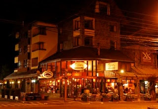 Downtown Pucon at Night - Chile