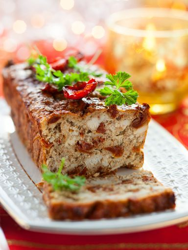 Recette Cake tomates séchées et poulet rôti