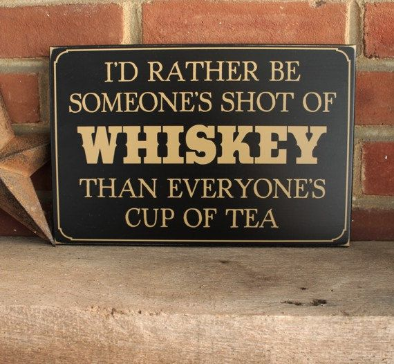 Shot of Whiskey Cowboy Western Wood Sign Wall by CountryWorkshop