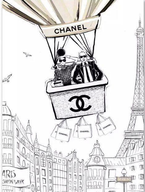 Affiche, dessin fait important, mode, Paris, classic, dessin, tableau, décoration, fait important, cadeau, Karl Lagerfeld, high fashion