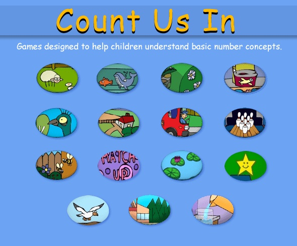 Count Us In - Games designed to help children understand basic number concepts.