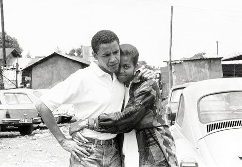 Young Obama and Michelle