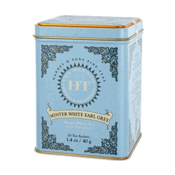 Harney and Sons Tea - Winter White Earl Grey - great tasting tea and they have the prettiest tins! Sponsor of my 2015 Fundraiser