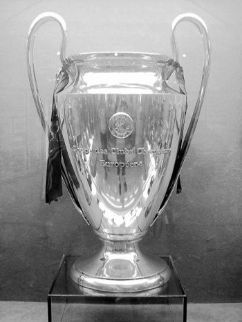 The European Champion Clubs' Cup is awarded annually by UEFA to the football club that wins the UEFA Champions League. The current champion is FC Barcelona (2015).