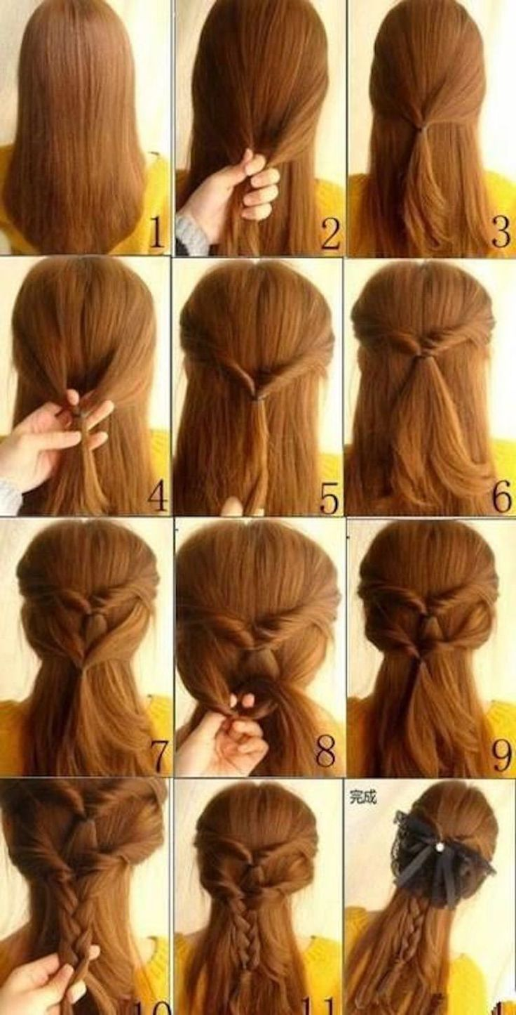 Easy 60+ Hairstyles For Long Hair To Do At Home Step By Step | Long hair styles, Hair styles ...