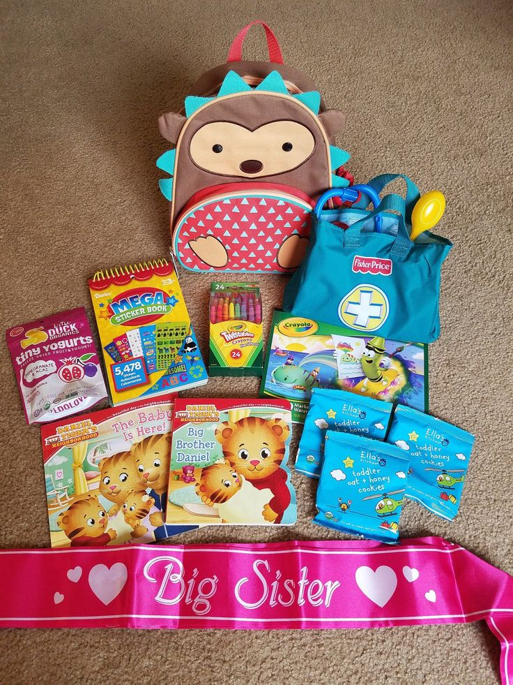 Big Sister Bag for the hospital. Great idea for the older kiddos to feel involved!
