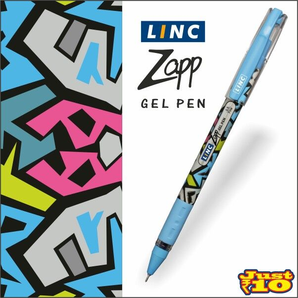 Inspired from the ‪#‎StreetArtGraffiti‬, ‪#‎LincPens‬ introduces the cool new Linc Zapp Waterproof Gel Pens. Available at a store near you!