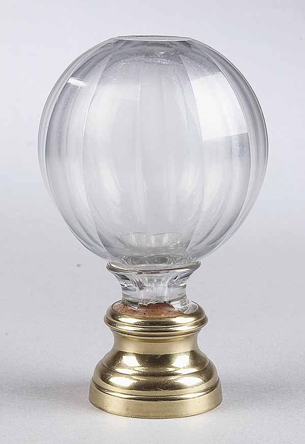 0030: Antique English Glass Newel Post Finial : Lot 30