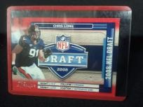 CHRIS LONG 2008 PLAYOFF PRESTIGE NFL DRAFT ROOKIE INSERT CARD