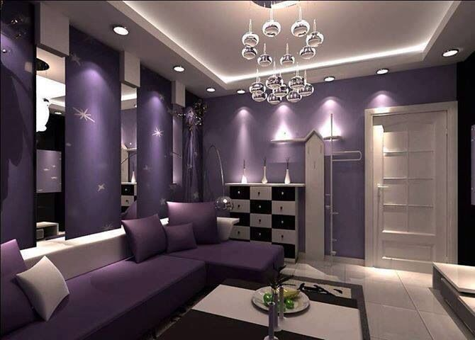 PURPLE DECOR! this is the color of my room... I should paint ...