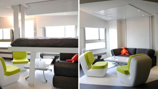 lit-escamotable-plafond-fauteuil-verte