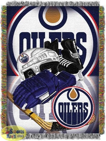 Northwest NHL Edmonton Oilers Home Ice Advantage Woven Tapestry Throw
