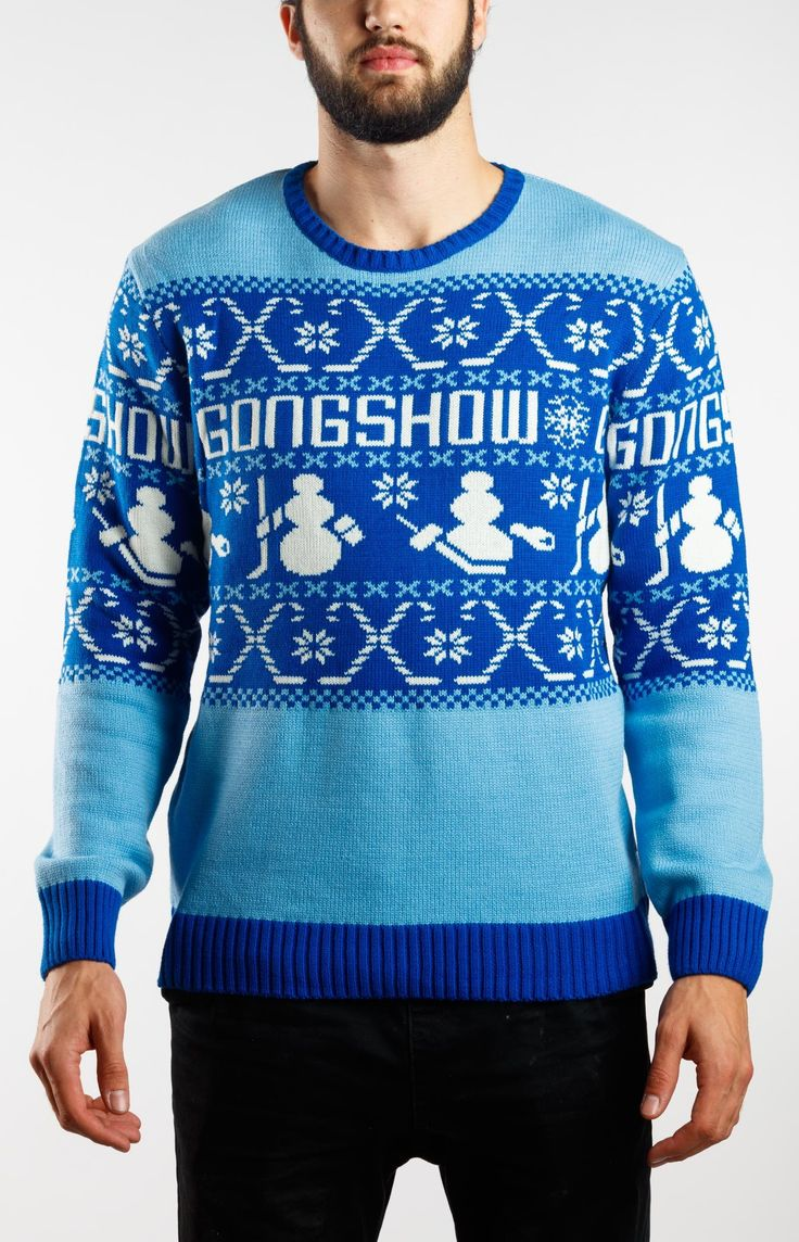 Holiday Cheer Blue Gongshow Hockey Ugly Christmas Sweater | GONGSHOW Hockey Lifestyle Apparel