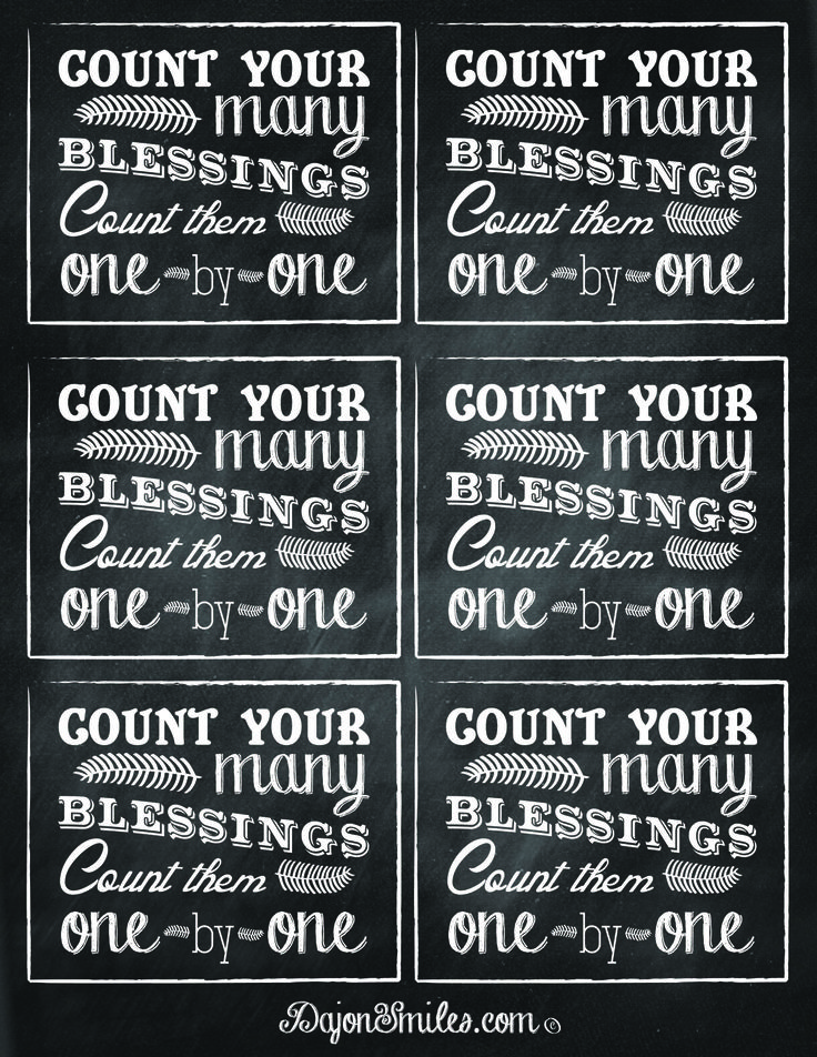 free printables to add to 39 blessing jar 39 gifts count your blessings dajon smiles pinterest. Black Bedroom Furniture Sets. Home Design Ideas