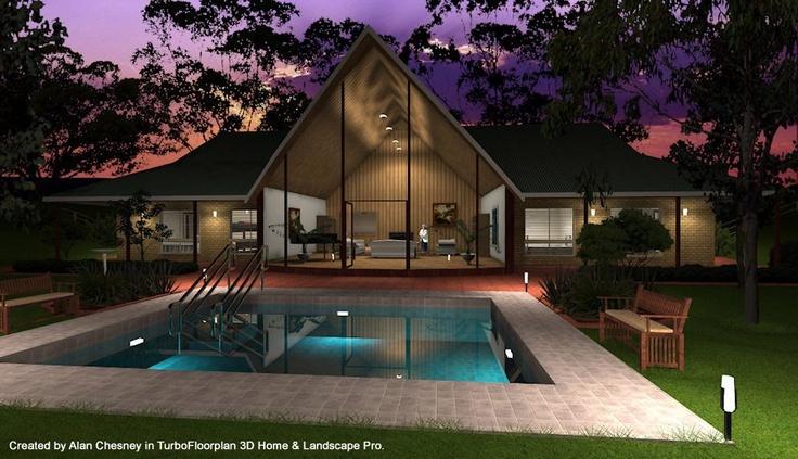 1000 images about turbofloorplan 3d on pinterest house for Architect 3d home landscape design