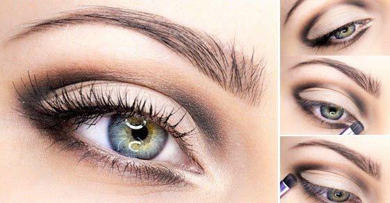 Rafinované líčenie pre modré oči.