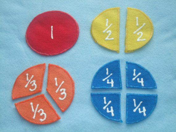 these felt fractions are a great way to teach the kids.