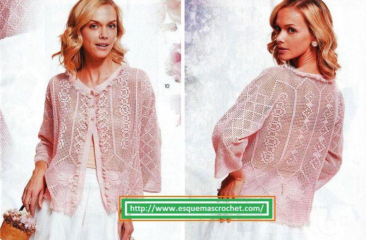 Chaleco mujer crochet