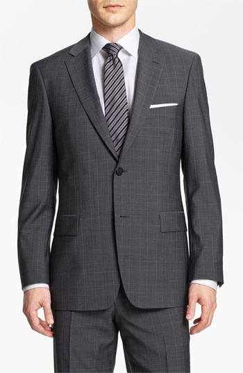 BOSS Black 'Pasini/Movie' Plaid Suit available at #Nordstrom