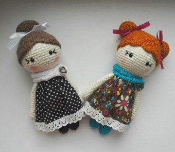 Crochet Amigurumi Little Lady Doll Free English Pattern