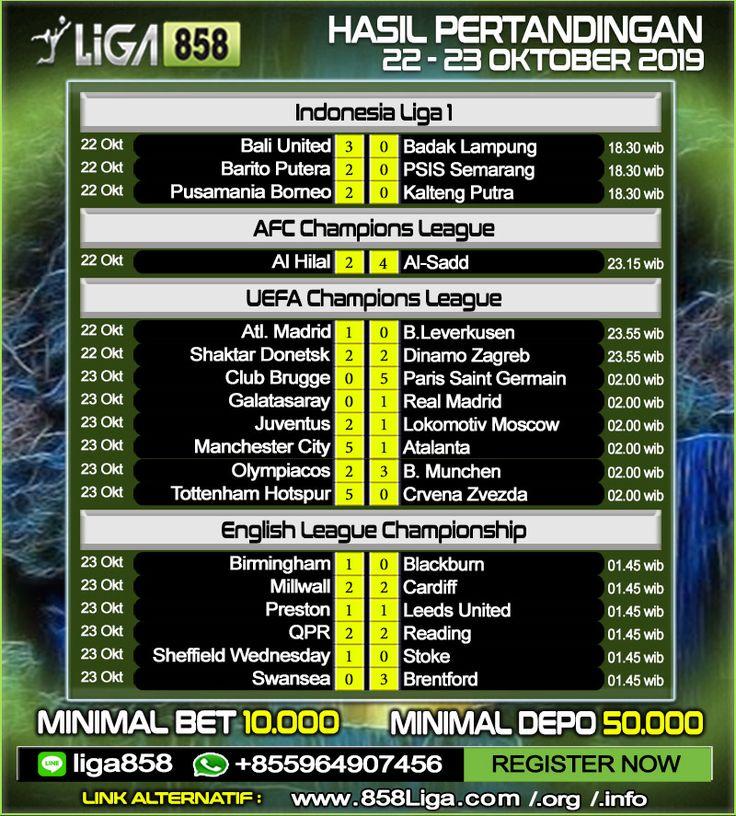 Hasil Pertandingan Sepak Bola 22 23 Oktober 2019 Promo