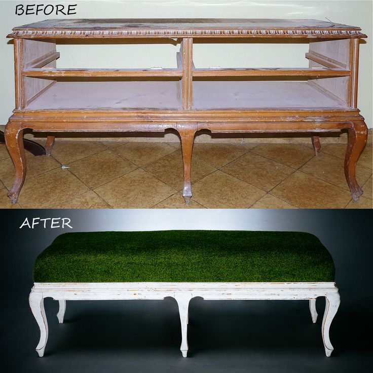 reciclado de aparador a banco descalzador #bench #upcycled #original