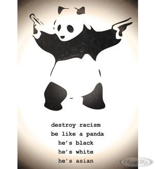 Banksy! Destroy Racism Poster  Available on http://closeup.de
