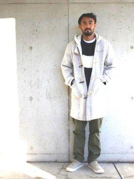 Ryu Nakamura さんのダッフルコート「MAGIC NUMBER Wooly Sweat Duffle Coat」を使ったコーディネート