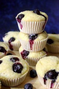 Eggless Lemon Blueberry Muffins