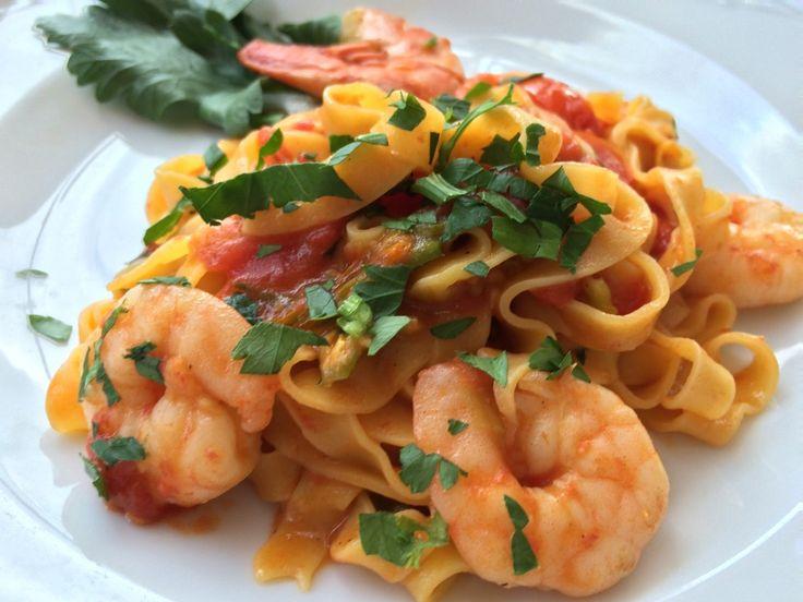 Shrimp tagliatelle #verona