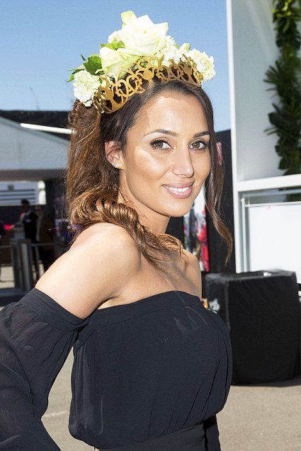 Snezana Markoski - Winner for the Bachelor 2016 - wears a Empress Austa crown from Studio Aniss at Derby Day #studioaniss #allergic2ordinary #melbournecup #melbcup #emiratesmelbournecup #oaksday #crownsday #stakesday #caulfieldcup #crowns #tiara #fascinator #fashion #style #springracing #springfashion #springracingcarnival #headpieces #hairaccessories #aniss #hats #leather #leatheraccessories #fashioneditorials