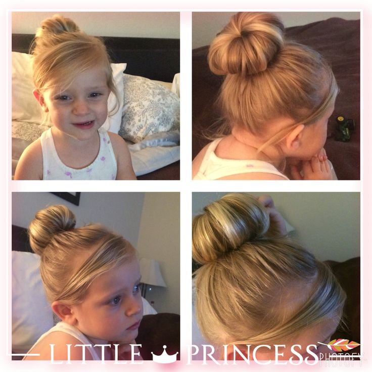 tinkerbell toddler halloween costume hair sock bun and a blonde beauty check and