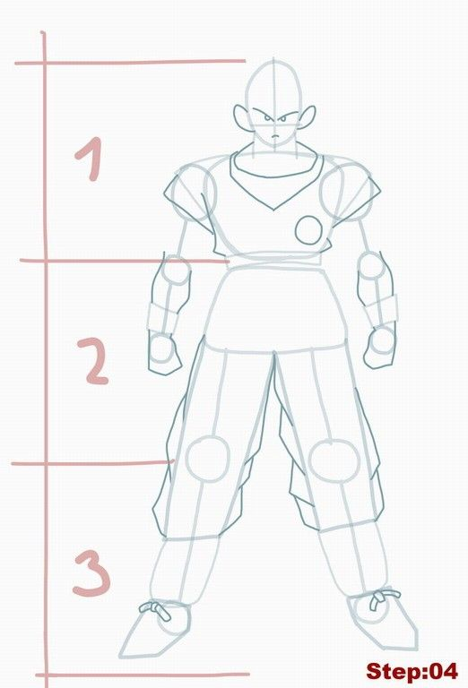 How to draw Goku from Dragon Ball Z step 04 - Visit now for 3D Dragon Ball Z compression shirts now on sale! #dragonball #dbz #dragonballsuper