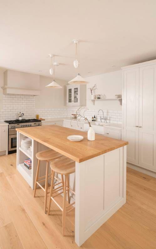 INSPIRAÇÃO DO DIA Cozinha minimalista, ampla e clara