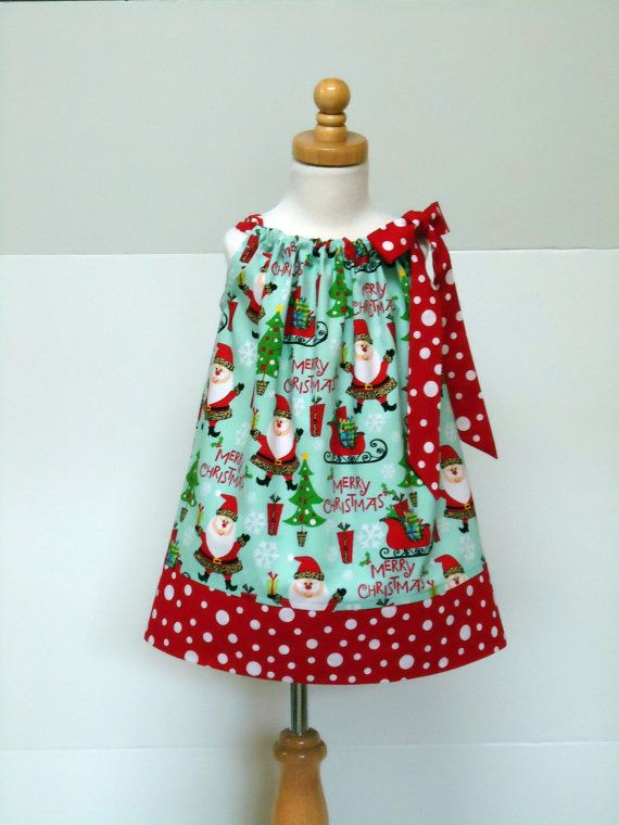 ❤ Christmas Santa Pillowcase - Size 6 - 12 month, 12 - 18 month, 18 - 24 month, 2T / 3T, 4 / 5, 6 / 7, 8 / 9 on Etsy, $28.84 AUD