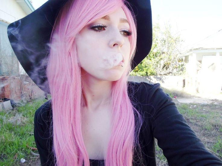 smoking emo girl