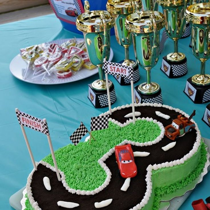 Best Birthday Party Cakes  Treats Images On Pinterest - Easy car birthday cake