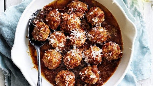 Neil Perry's meatballs in chipotle sauce.