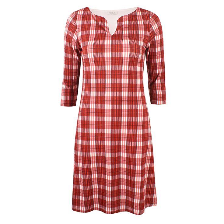 Leonie Caro Coralle von KD Klaus Dilkrath #kdklausdilkrath #kd #dilkrath #kd12 #outfit #dress #leonie #caro #karo #pattern #tartan