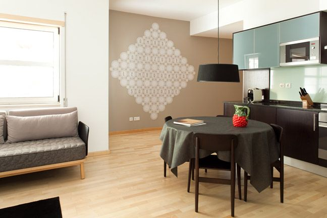 The Lisbonaire Apartments, available for holiday rental in Lisbon. Apartment details by design studio Joana & Mariana, furniture by Pedrita.