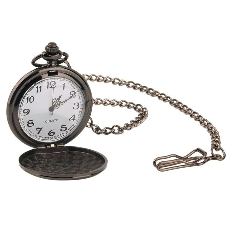 OUTAD 2 type Metallic luster New Creative Retro Mirror Smooth Thick Necklace Vintage Quartz Pocket Watch relogio masculino